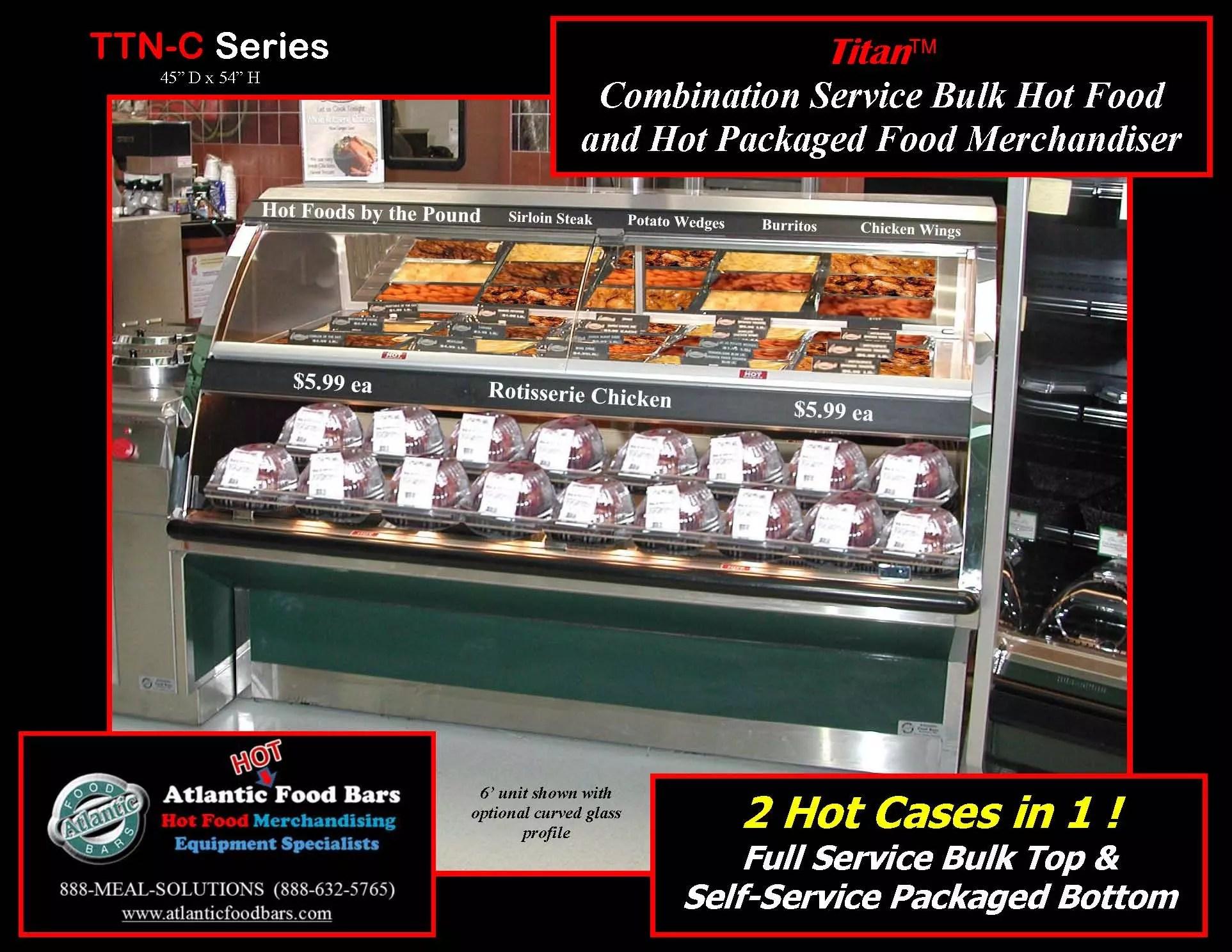 Atlantic Food Bars - Combination Service Hot Food Merchandiser - TTN7244-C