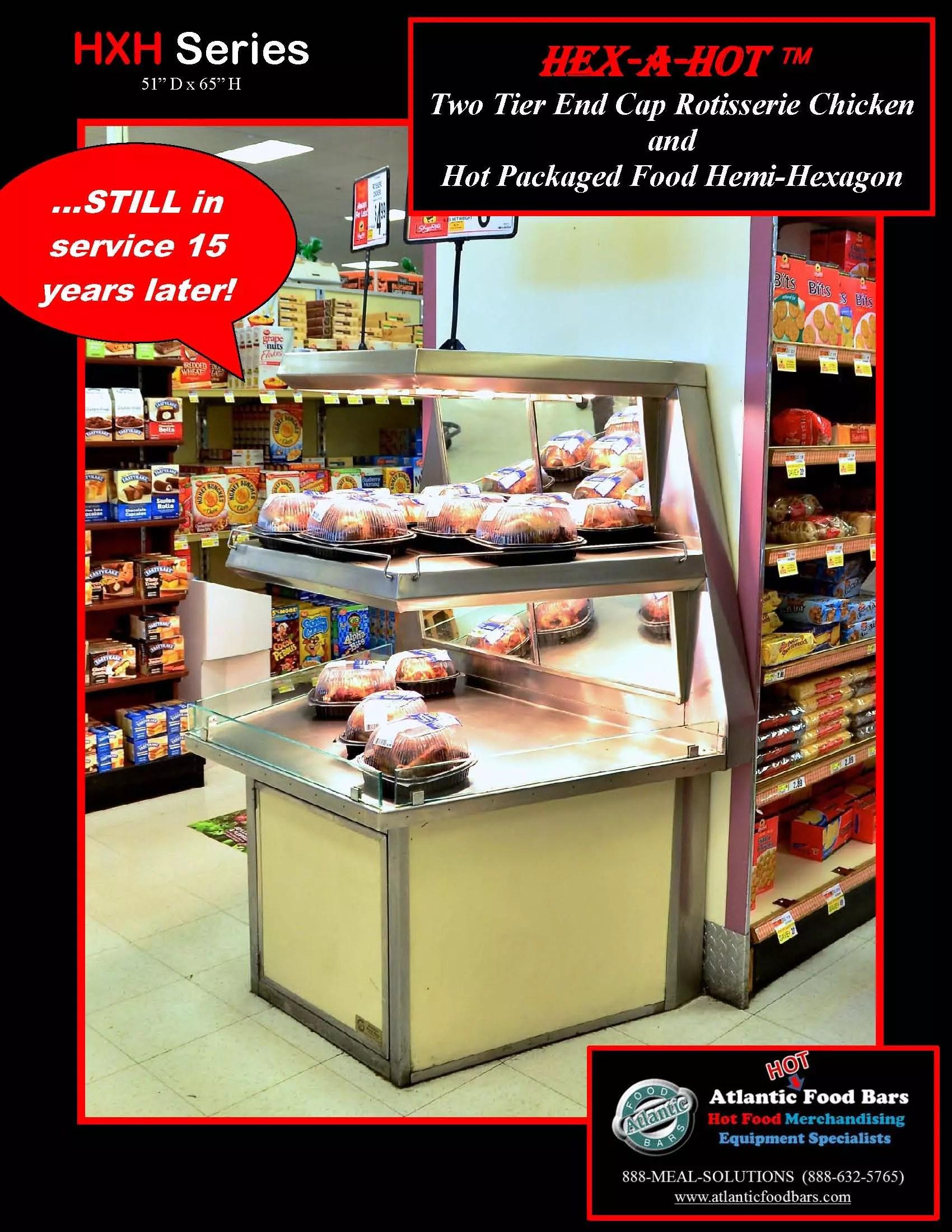 Atlantic Food Bars - The 15-Year Club - HXH Hex-a-Hot Hot Rotisserie Chicken Merchandiser - STILL IN SERVICE!