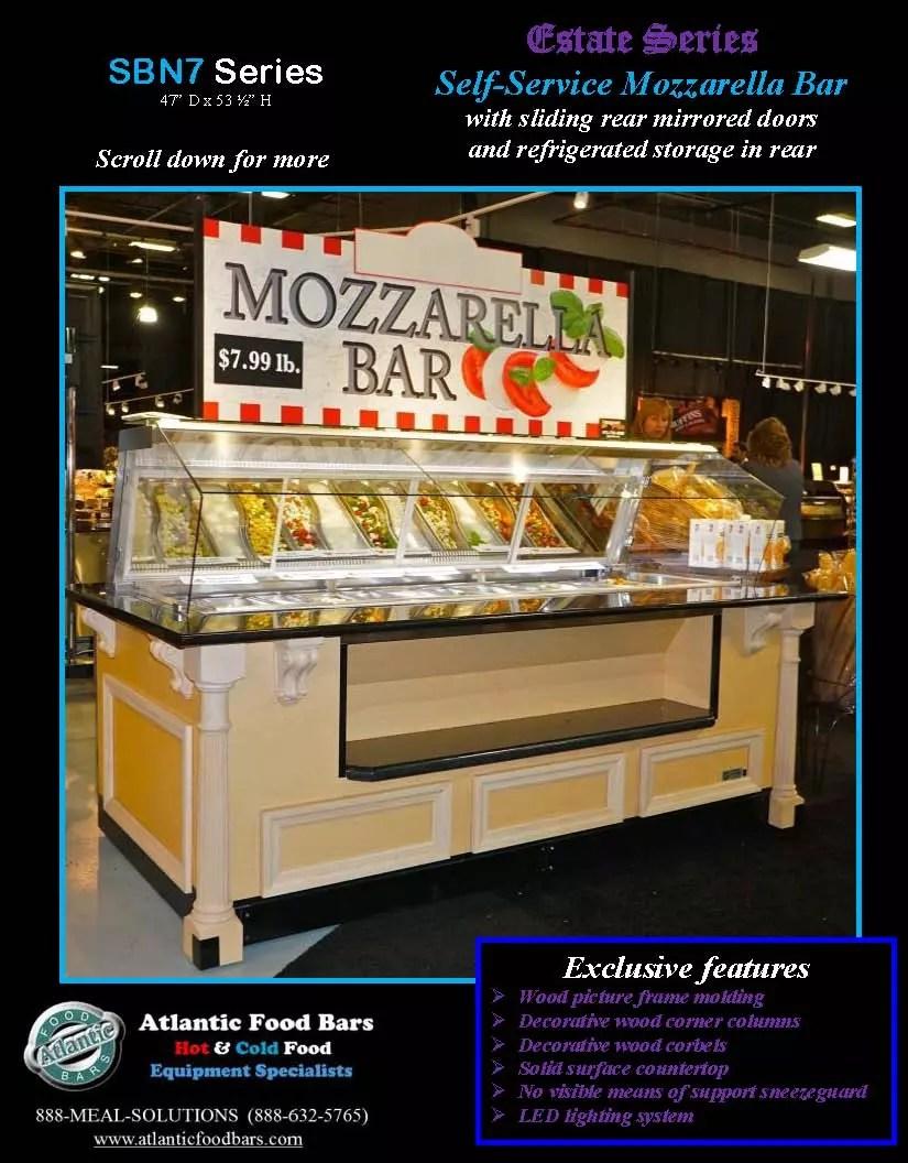 Atlantic Food Bars - Estate Series Self-Service Mozzarella Bar - SB9647N7-DCL-RSD-SC-VH 1