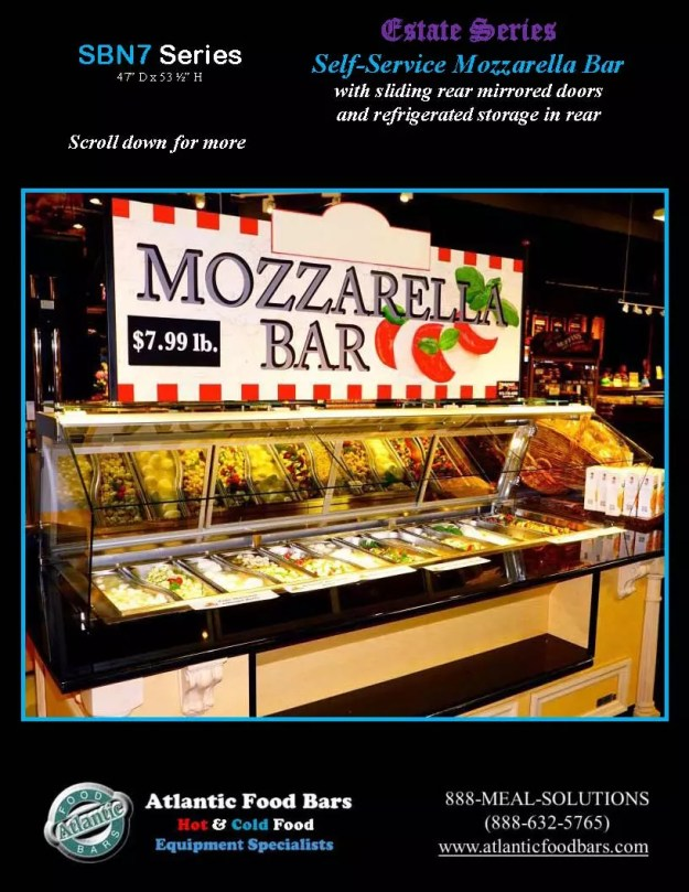 Atlantic Food Bars - Estate Series Self-Service Mozzarella Bar - SB9647N7-DCL-RSD-SC-VH 3