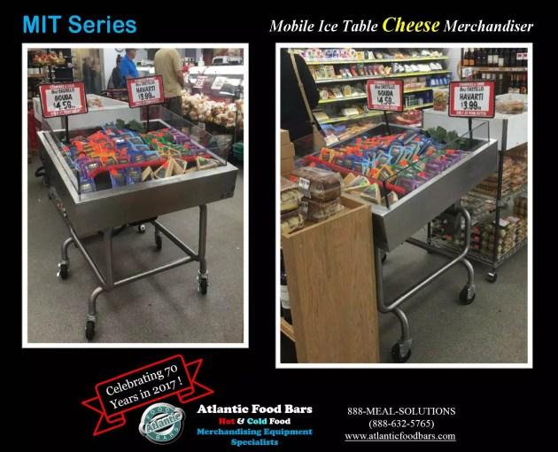 Atlantic Food Bars - Mobile Ice Table Cheese Merchandiser - MIT