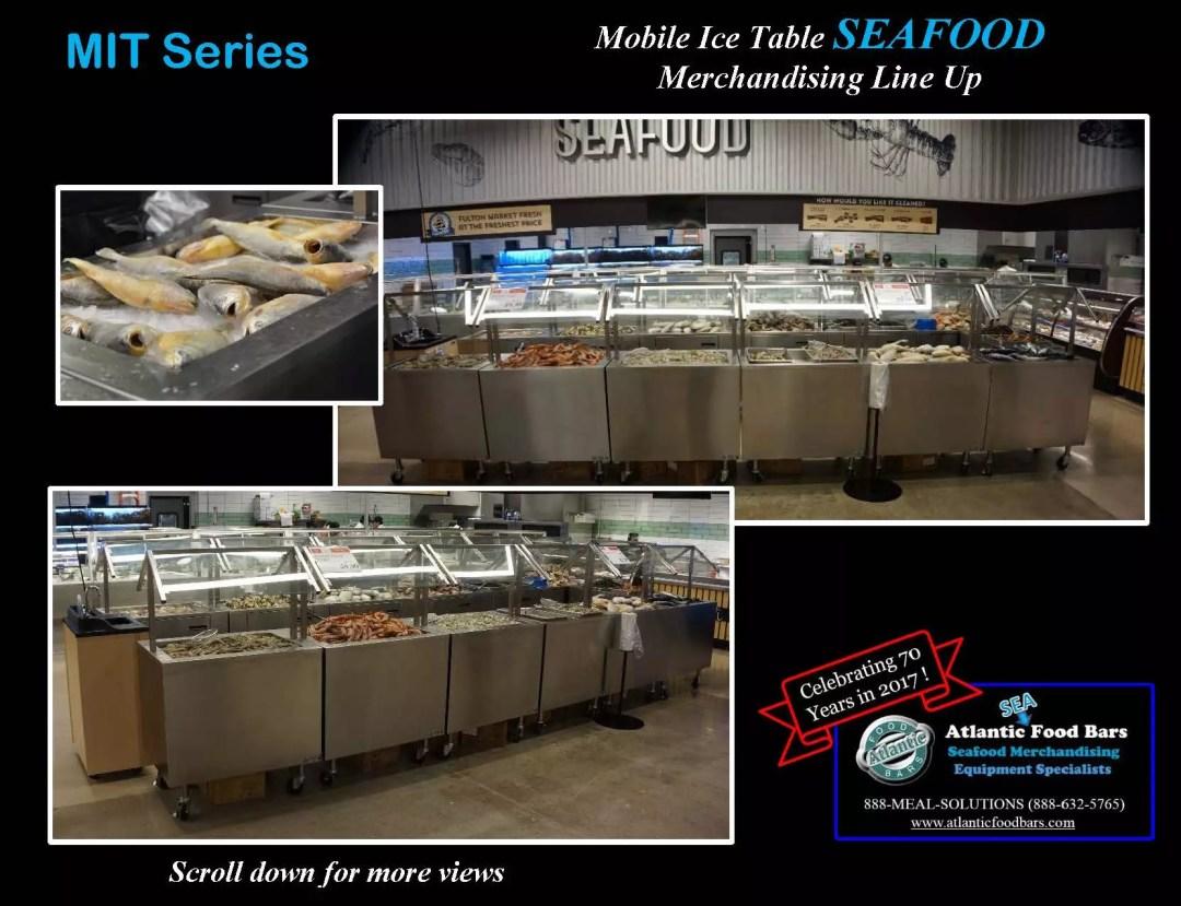Atlantic Food Bars - Mobile Ice Table Seafood Merchandising Line Up - MIT