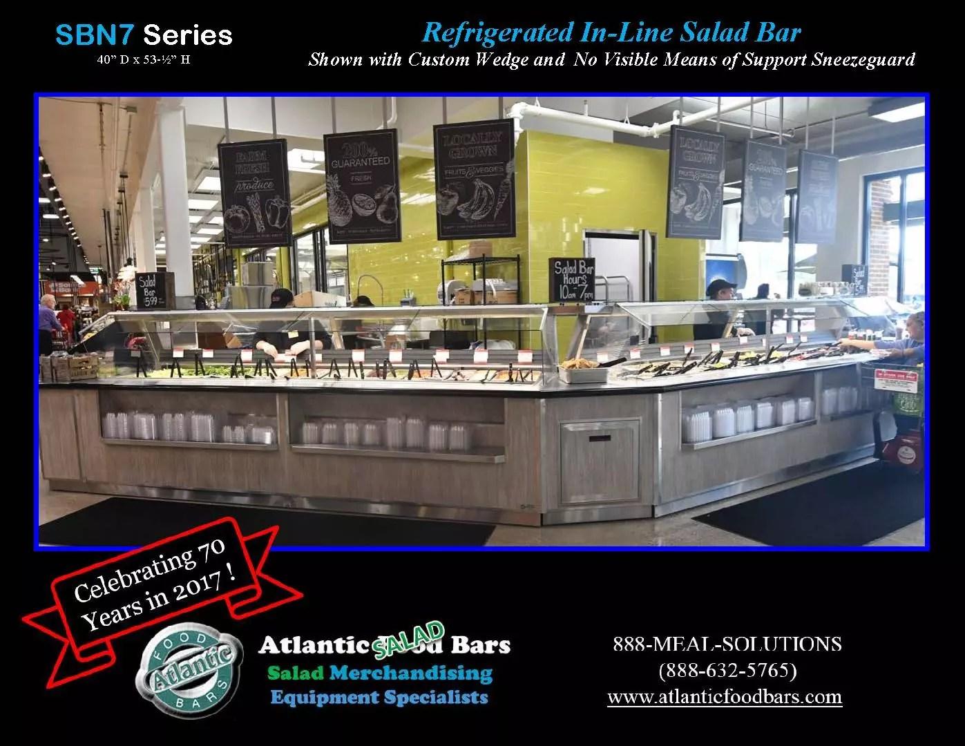 Atlantic Food Bars - Refrigerated In-Line Salad Bar 2 - SBN7