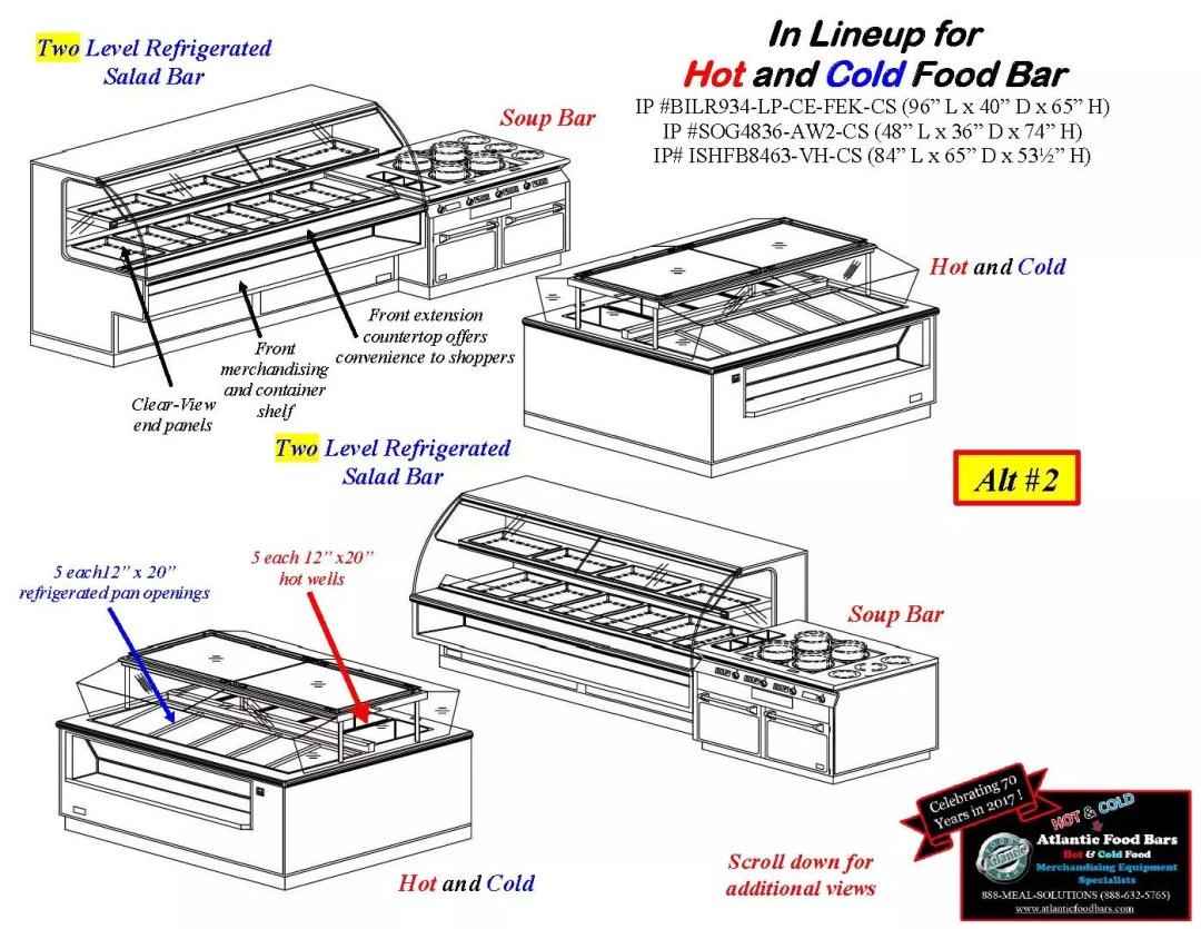 Atlantic Food Bars - Hot and Cold Display Case Lineup Drawings - BILR SOG ISHFB_Page_2