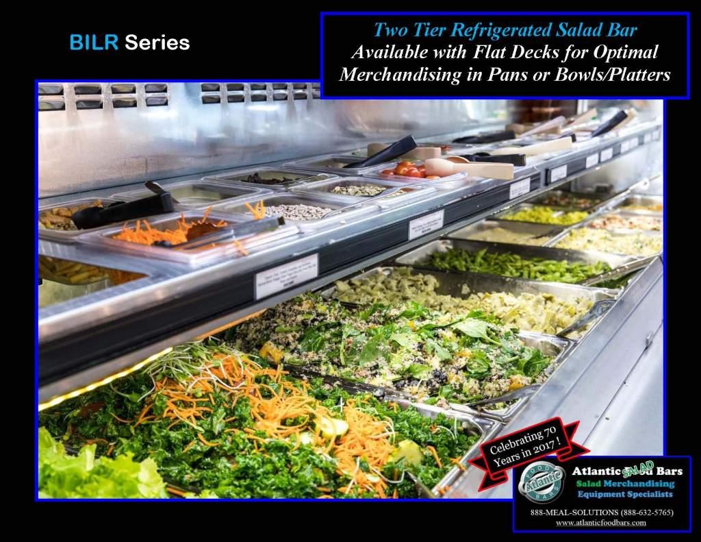 Atlantic Food Bars - 2-Tier Refrigerated Salad Bar - BILR11934-CE-FEK-LED-NS-UO