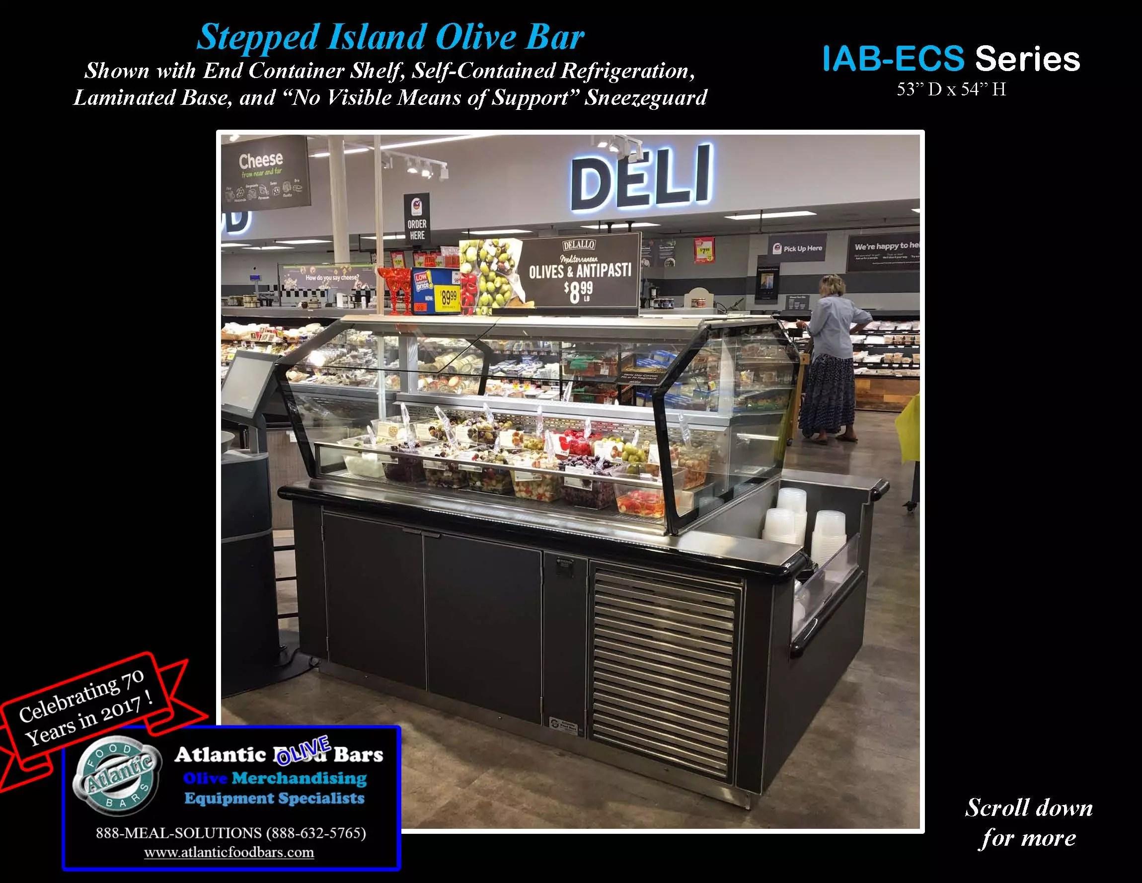 Atlantic Food Bars - Stepped Refrigerated Island Olive Bar - IAB5851-ECS-LB-SC-VH_Page_1