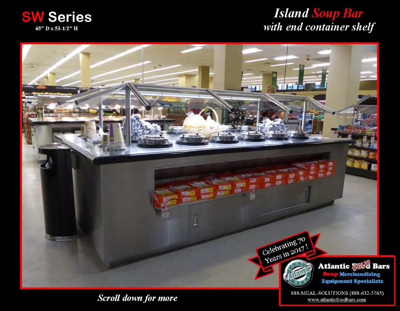 Atlantic Food Bars - Island Soup Bar with End Container Shelf - SW_Page_1