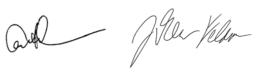 Carl and Drew signatures