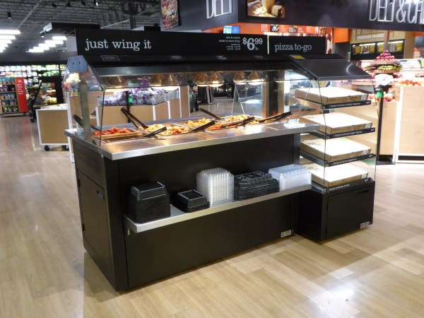 Mobile Hot Wing Bar and Self-Service Multi Level Hot Grab & Go Pizza and Sandwich Module - Atlantic Food Bars - MHFC6044 MHPF2446 3
