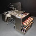 Mobile Oyster Shucking Station with Clam Bar Module - transforMerchandiser - Atlantic Food Bars - MIT3636-FSKT-MCB-OSSKT-TRKT 1
