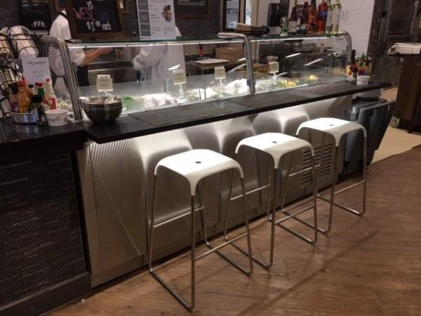 Custom 8′ Oyster Bar with Integral Clam Shucking Tool & Refrigerated Base Storage - Atlantic Food Bars - OYB9642 3