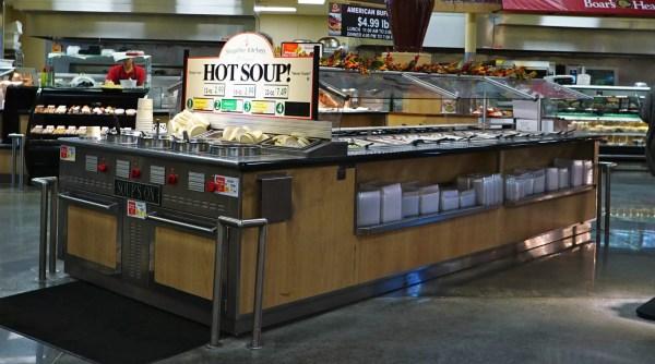 Island Salad Bar with Soup's On End-Cap Soup Merchandiser - Atlantic Food Bars - ISB14267 SOG6529-EN 1