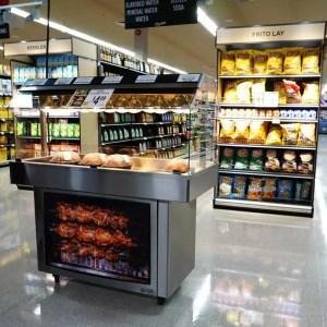 Mobile Packaged Hot Food Merchandiser - Single Level - Atlantic Food Bars - HH5125 1