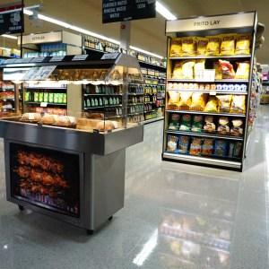 Mobile Packaged Hot Food Merchandiser - Single Level - Atlantic Food Bars - HH5125 2