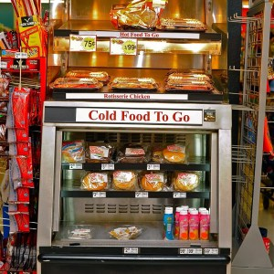 One Sided Combination Hot Over Cold Packaged Food Case - Atlantic Food Bars - HCWT3642 2