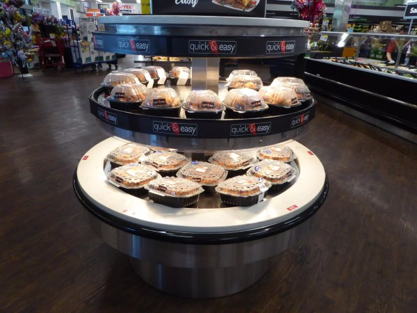 Round Hot Rotisserie Chicken Grab and Go Merchandiser - Two Levels - Atlantic Food Bars - RHP6060T 2