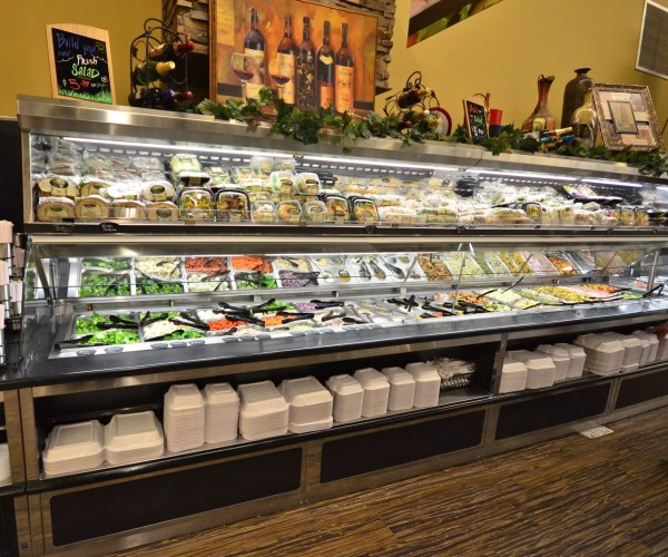 Salad Bar and Soup Bar with Overhead Refrigerated Grab and Go Canopy - Atlantic Food Bars - SLSB19236 SOG4836-RC 3