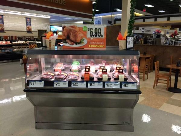 Single Level Shop Around Hot Rotisserie Chicken Grab and Go Merchandiser - Atlantic Food Bars - IHH6353 3