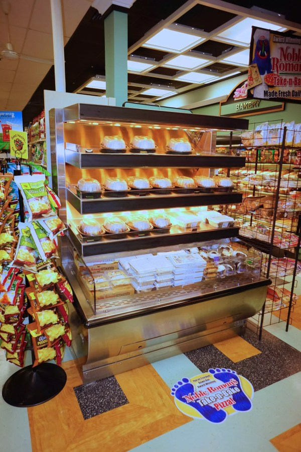 Single-Sided Combination Hot Over Cold Packaged Food Merchandiser - Atlantic Food Bars - ILRECE4838-AS 1
