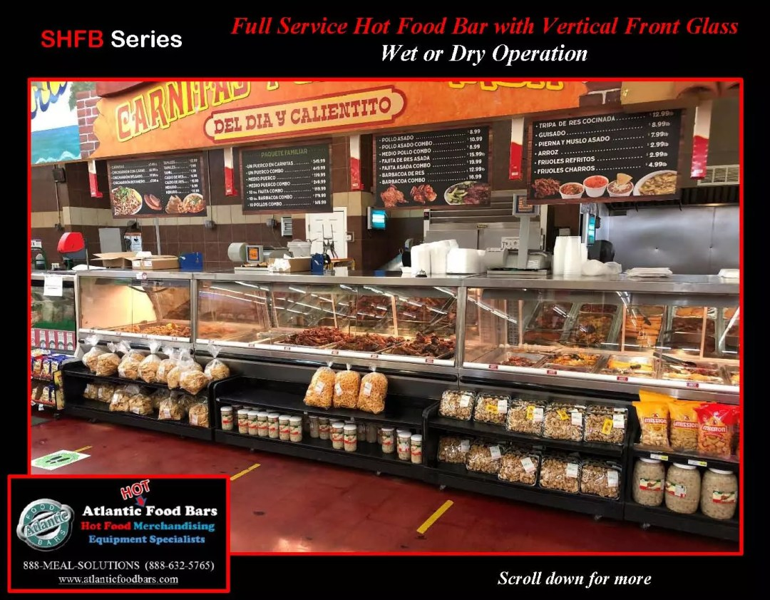 Atlantic Food Bars - Full Service Hot Food Bar with Vertical Front Glass - Wet or Dry Operation - SHFB_Page_1