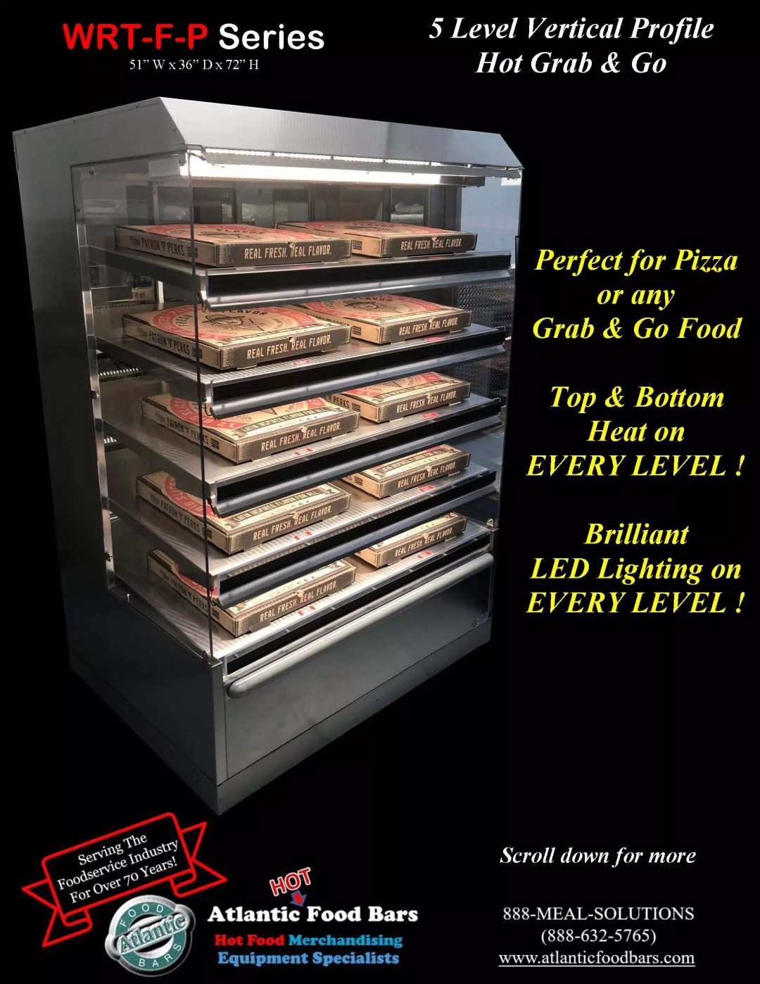 Atlantic Food Bars - 5 Level Vertical Profile Hot Grab and Go Pizza Wrangler - WR5136T-F-P_Page_1