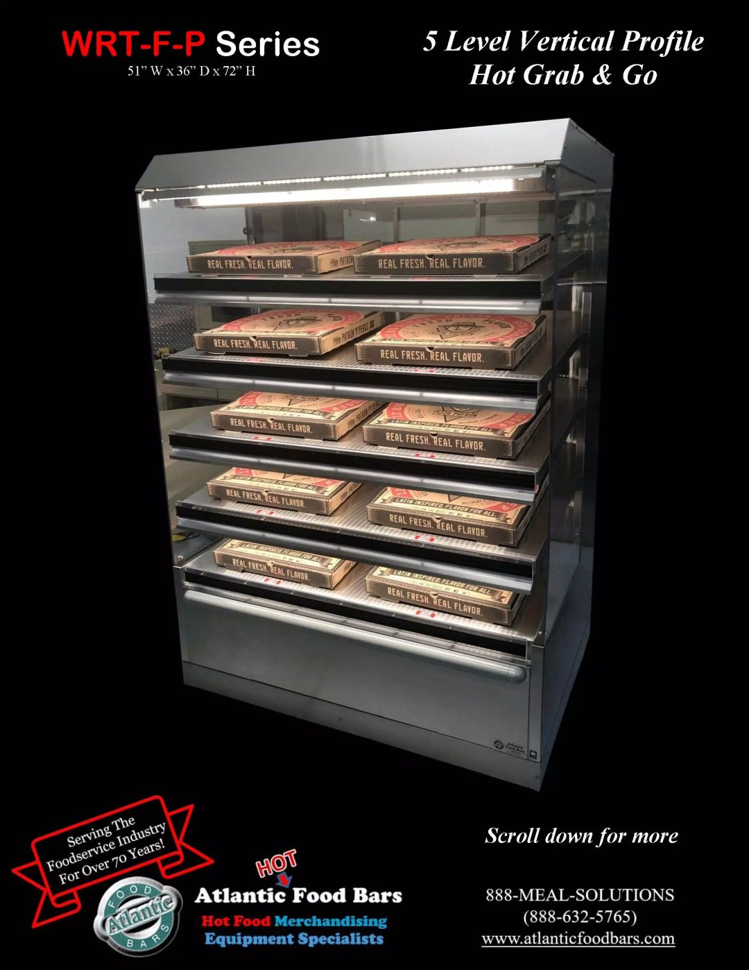 Atlantic Food Bars - 5 Level Vertical Profile Hot Grab and Go Pizza Wrangler - WR5136T-F-P_Page_2