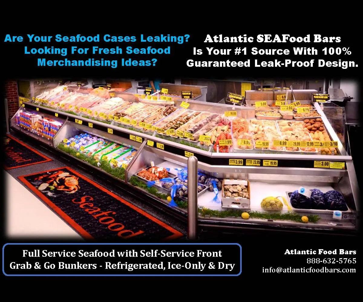 Atlantic SEAFood Bars - Fresh Seafood Merchandising Ideas - Guaranteed Leak Proof 1a