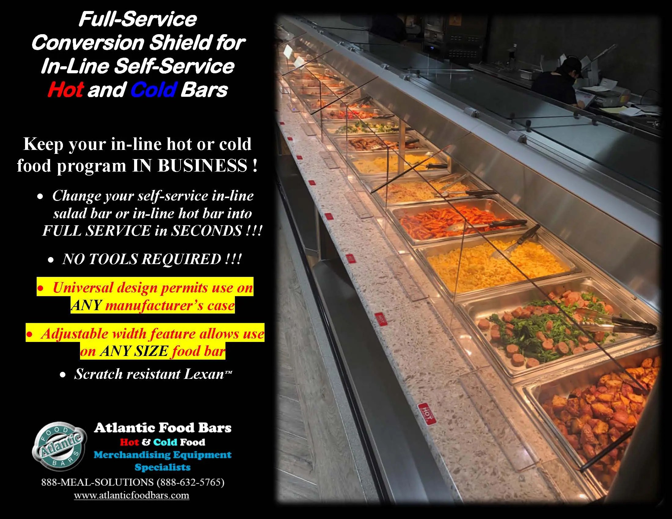 Atlantic Food Bars - The Shield - Lexan Full Service Conversion Kit for In-Line Cold and Hot Food Bars - AST_Page_1