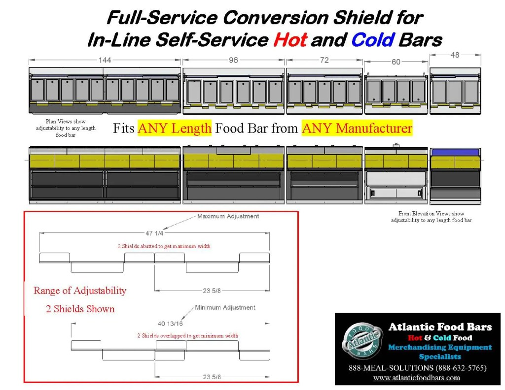 Atlantic Food Bars - The Shield - Lexan Full Service Conversion Kit for In-Line Cold and Hot Food Bars - AST_Page_6