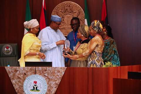 The fake MLK award presented to President Buhari: how Abike Dabiri scammed the President