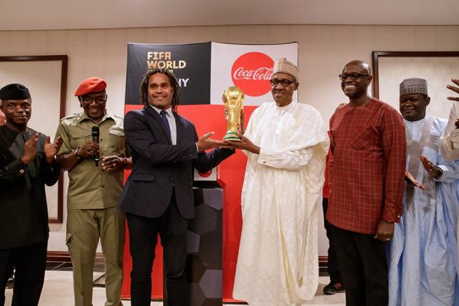 President-Buhari-Receives-The-Original-FIFA-World-Cup-Trophy-In-Abuja