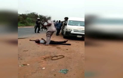 Customs Reacts To The Filmed Murder At Shagamu Interchange: Video Attached