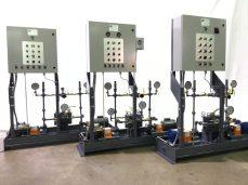 Hayes Pump Control Panel with Gauges on Pump Skik