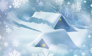 """Căsuțe """"învelite"""" în zăpadă"""