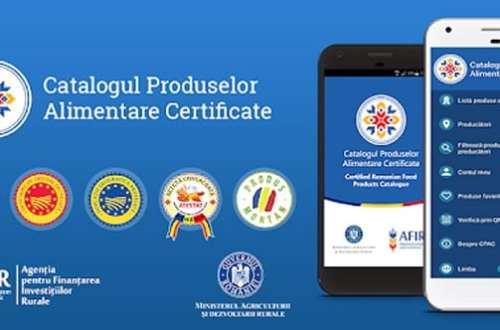 aplicatie mobil smartphone cpac catalogul produselor alimentare certificate 1