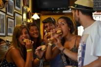 Getting to know each other eating tapas on a trip