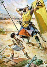 Abb. 5 Der legendäre Kampf von David gegen Goliath, über den das Alte Testament berichtet. Für viele Menschen stellen moderne Stories über Riesenfunde im Nahen und Mittleren Osten vor allem eine Bestätigung für die Richtigkeit von Berichten über die Riesen der Vorzeit in 'Heiligen Büchern', wie der Bibel und dem Koran dar.