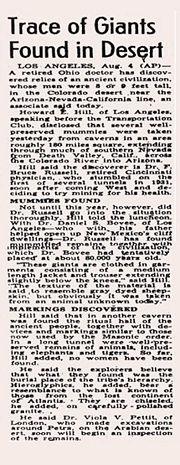 Abb. 9 Der Original-Artikel aus dem San Diego Union vom 5. August 1947.