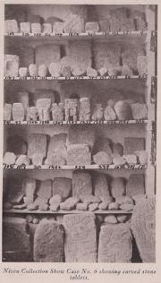 """Abb. 4 Einige der von Niven im Tal von Mexiko entdeckten Steintafeln (aus: """"Children of Mu"""" von James Churchward)"""