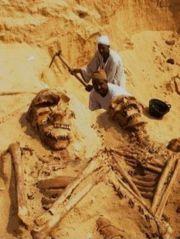 Abb. 4 Hier zwei weitere Photoshop-Riesen, die bei Rab-Ul-Khalee exhumiert worden sein sollen