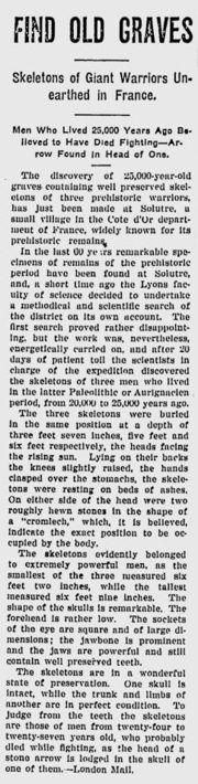Abb. 12 Die Fundmeldung aus dem kanadischen Stanstead Journal vom 31. Januar 1924