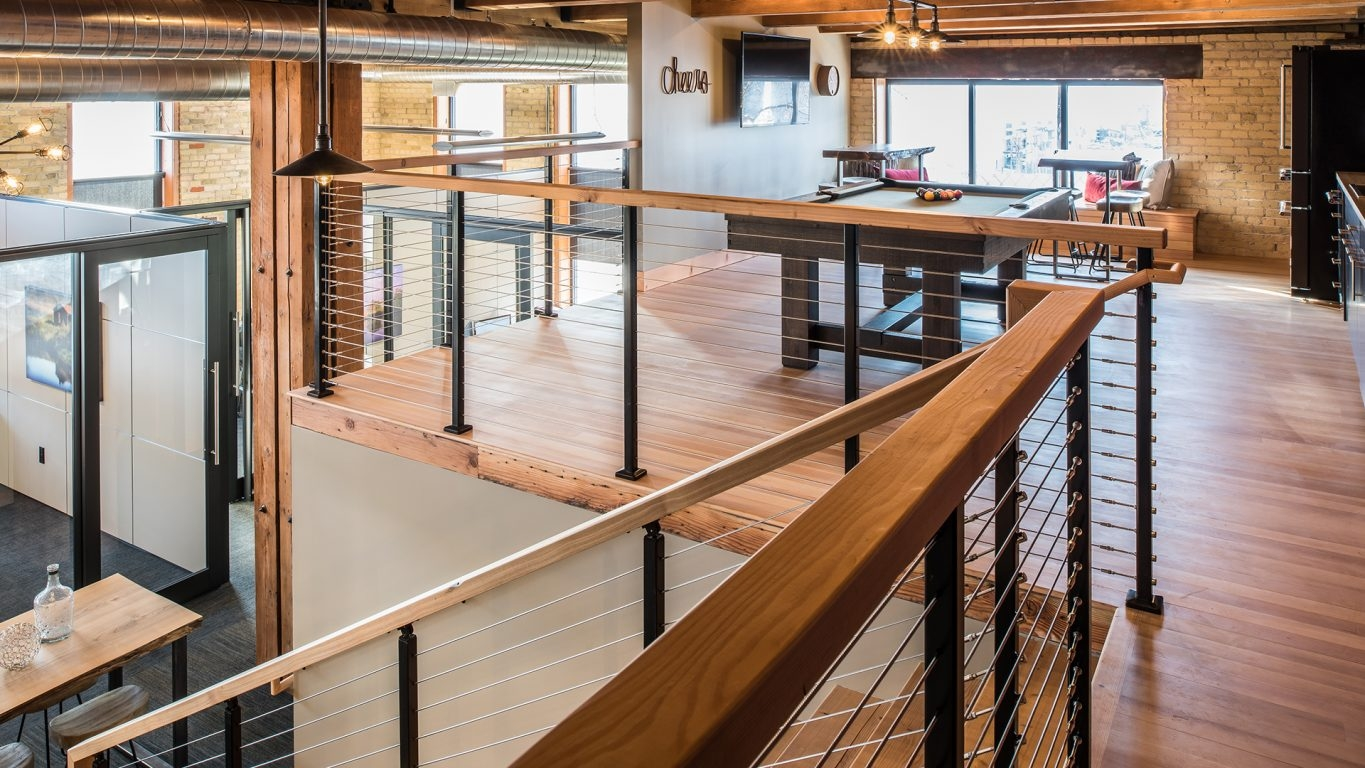 Atlantis Rail Systems Steel Cable Railing Home | Modern Cable Stair Railing | Entry Foyer | Staircase Remodel | Stair Treads | Glass Railing | Deck Railing