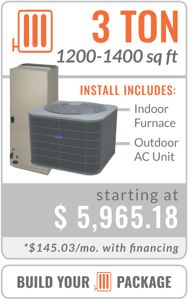 heat pump 3 ton furnace and ac unit replacement