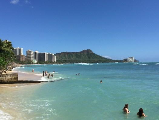 View of Diamond Head from Waikiki Beach