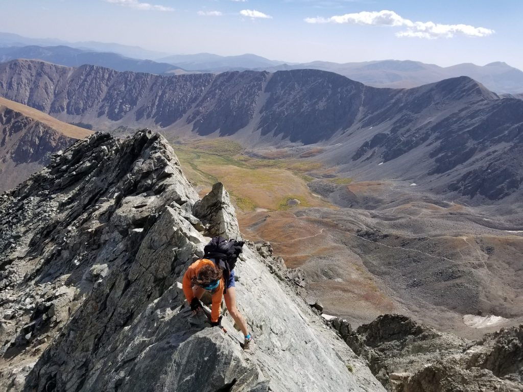Beginner Class 3 14ers: Kelso Ridge on Torreys Peak