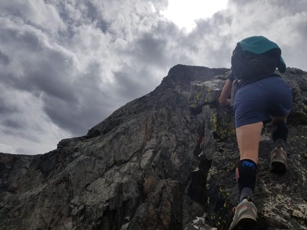 Staying ridge proper on Quandary's Inwood Arete