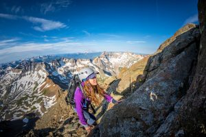 Coming up the ridge of Mt. Sneffels