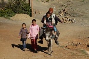 Family going to the market.