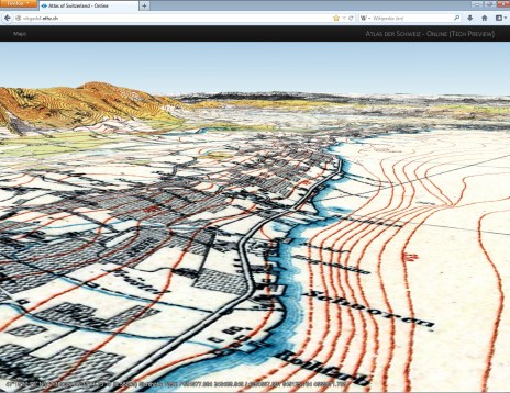 Terrain Model and Raster layer (Historical map of Zurich)