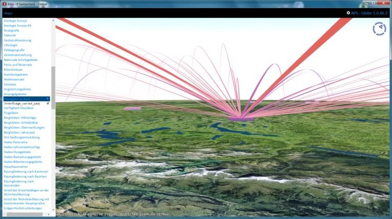 3D Trajectories, close-up (Flight passengers)